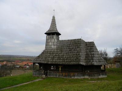 """Biserica de lemn """"Înălțarea Domnului""""  din Porț"""