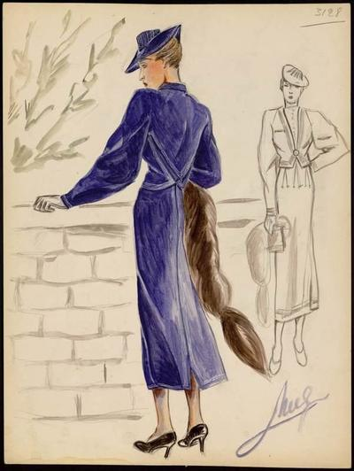 [Modèle de robe et veste]