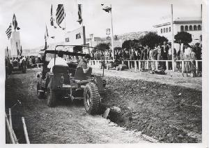 American Farm School machinery demonstration at Thessaloniki exhibition-U.S Pavilion, 1955