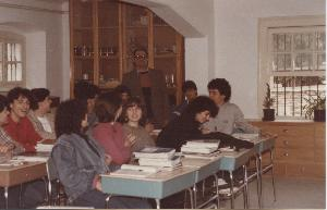 Students in classroom, 1985