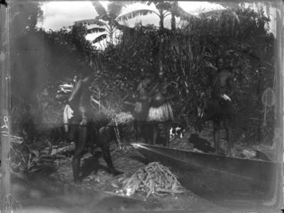 Scène avec canoë, Afrique #0814