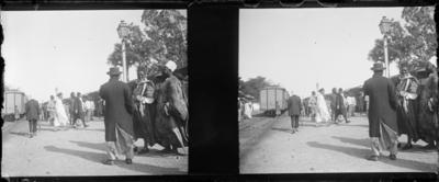 Quai de gare avec indigènes et coloniaux, Afrique de l'Ouest #1530