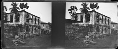 Bâtiment tombé en ruïne, Afrique de l'Ouest #1556
