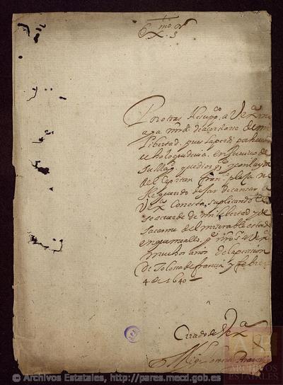 Carta de LORENTE, Miguel a [SANTA COLOMA, Conde de]