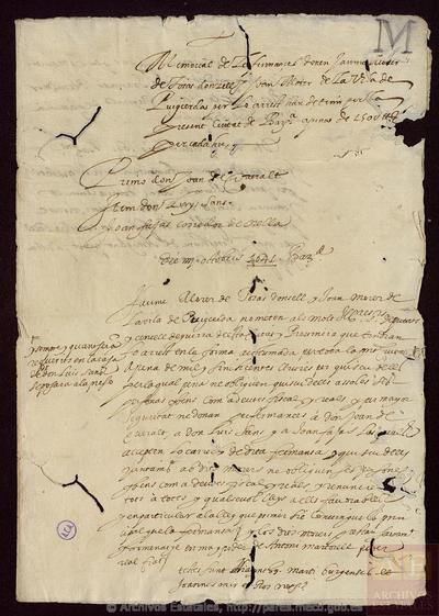 Carta de [VARIOS REMITENTES] a GENERAL DE CATALUNYA, Diputats del
