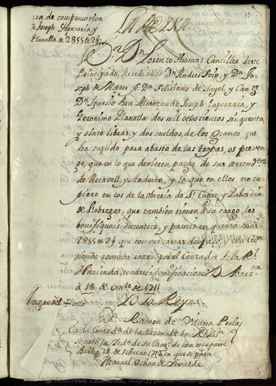 Registre de lletres trameses per la Junta eclesiàstica de Segrests creada per l'arxiduc Carles d'Àustria en el Camp de Sarrià.