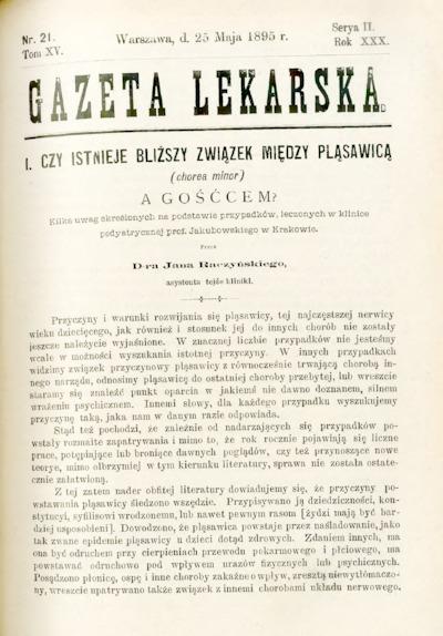 Gazeta Lekarska 1895 R.30, t.15, nr 21