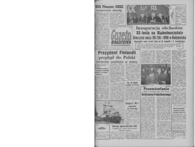 Gazeta Białostocka 1964, nr 54