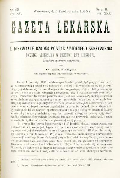 Gazeta Lekarska 1895 R.30, t.15, nr 40