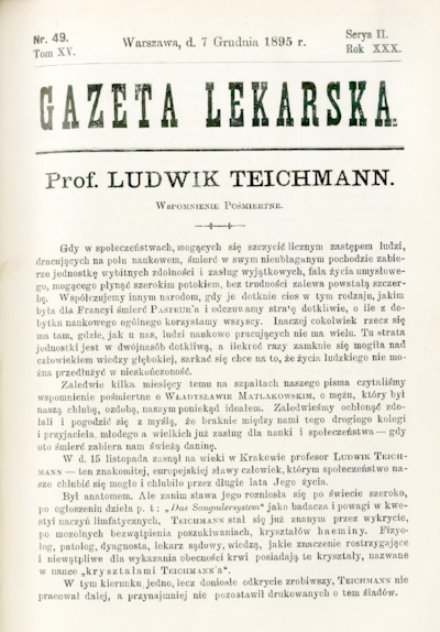 Gazeta Lekarska 1895 R.30, t.15, nr 49