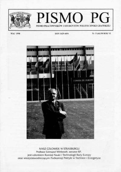 Pismo PG : pismo pracowników i studentów Politechniki Gdańskiej, 1998, R. 6, nr 5 (Maj)