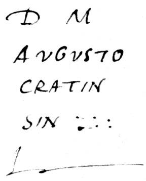 Épitaphe d'Augustocratin (?)