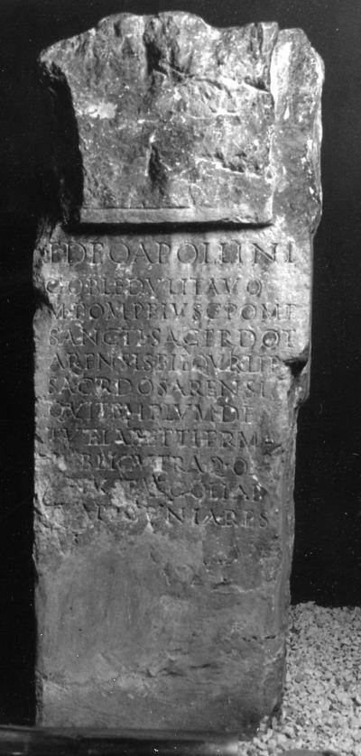 Dédicace de Marcus Pompeius Libo à Apollon Cobledulitavus