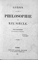 Philosophie du XIXe siècle : Étude encyclopédique sur le monde et l'humanité
