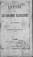 Lettre sur la colonie icarienne par un icarien