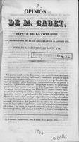 Opinion de M. Cabet : député de la Côte-d'Or, sur l'abrogation de la loi concernant le 21 janvier 1793, jour de l'exécution de Louis XVI