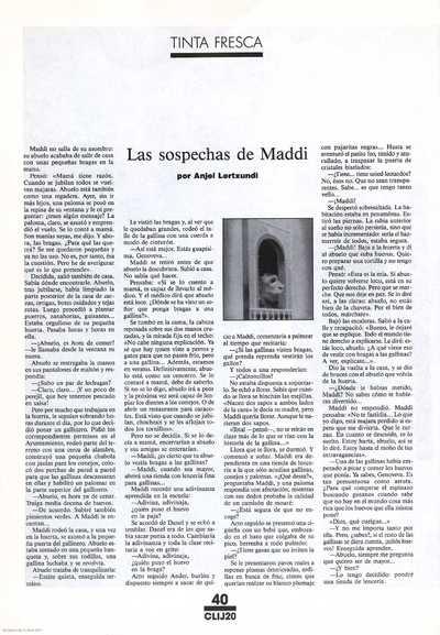 Las sospechas de Maddi