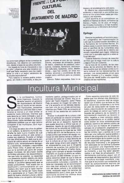 Incultura municipal