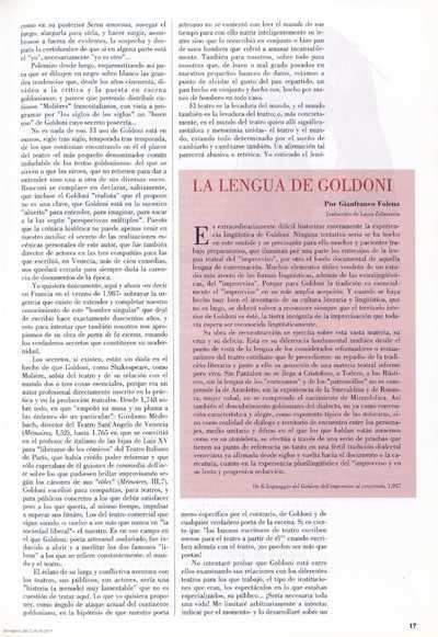 La lengua de Goldini