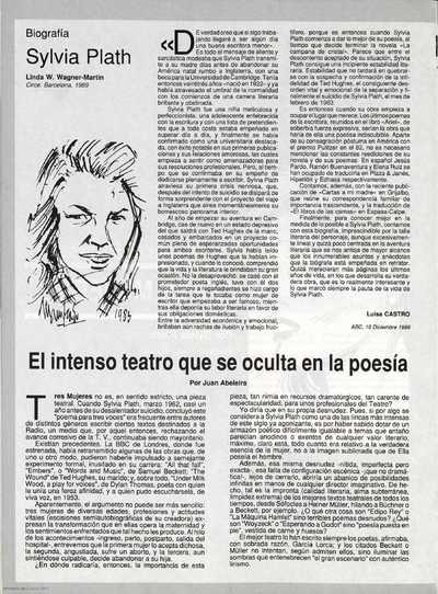 Sylvia Plath : biografía