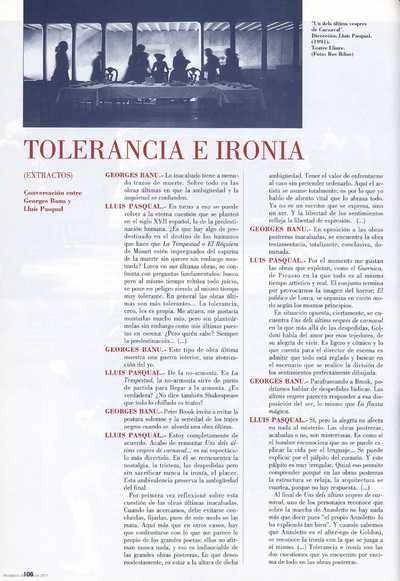 Tolerancia e ironía : (extractos)
