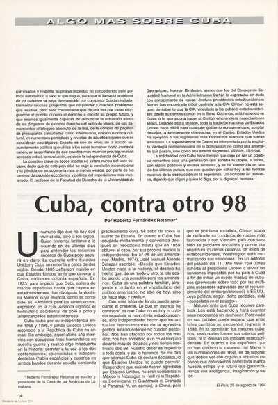 Cuba, contra otro 98