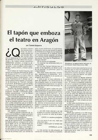 El tapón que emboza el teatro en Aragón
