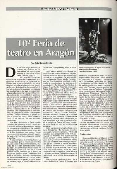 10ª Feria de teatro en Aragón
