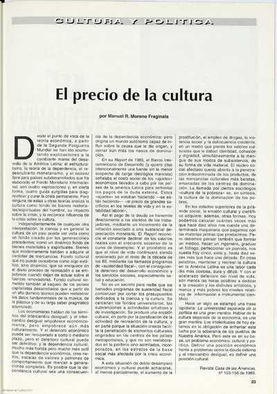 El precio de la cultura