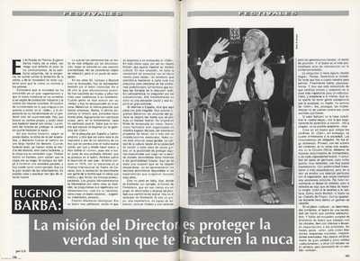 Eugenio Barba : la misión del director es proteger la verdad sin que te fracturen la nuca