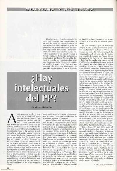 ¿Hay intelectuales del PP?