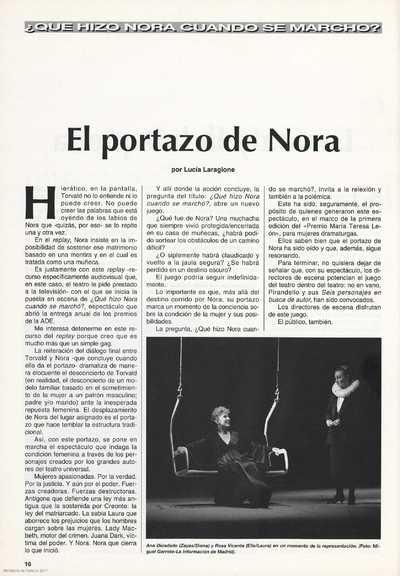 El portazo de Nora