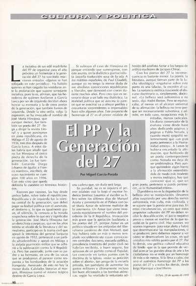 El PP y la Generación del 27