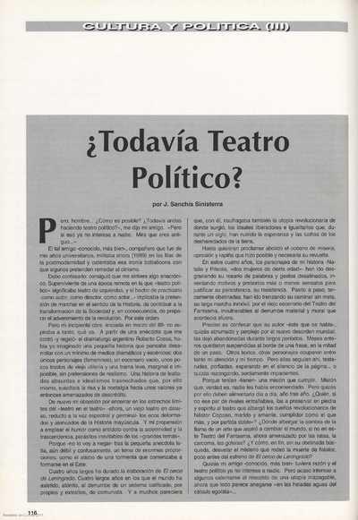 ¿Todavía Teatro Político?