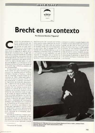 Brecht en su contexto