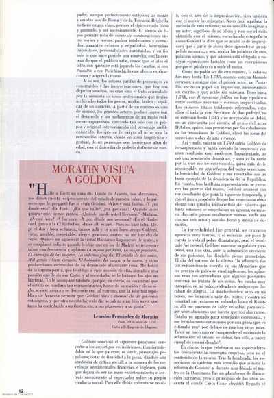 Moratín visita a Goldini