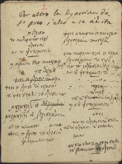 Αυτόγραφα Σολωμού - Τετράδιο ετών 1829-1833.
