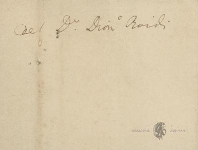 Αυτόγραφα Σολωμού - Ποίημα Διονυσίου Ροΐδη, Αντίγραφο.