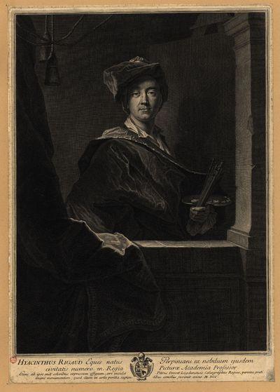 Hyacinthus Rigaud... in regia picturae academia professor