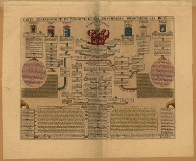 Carte genealogique de Pologne et les principales branches de ses rois