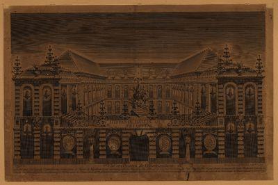Vüe et dessein de lªillumination faite sur la façade extérieure et intérieure de lªhôtel de Bouillon...