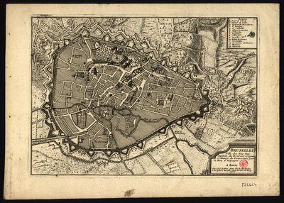 Bruselles: ville des Pais Bas capital du Brabant et sejour ordinaire du gouverneur pour le Roy dªEspagne