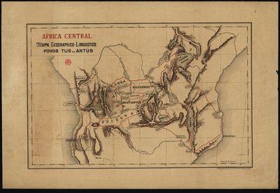 Mappa geographico-linguistico,: Africa Central