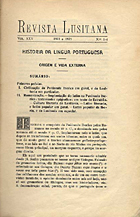 Revista lusitana archivo de estudos philologicos e ethnologicos relativos a Portugal