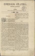 Esmeralda atlantica periodico illustrado dos Açores