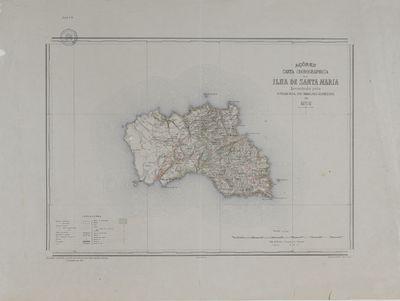 Açores: carta chorographica da Ilha de Santa Maria: 1898