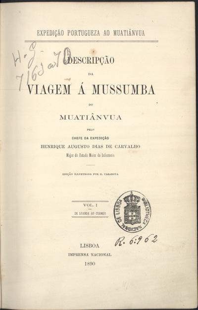 Descripção da viagem à Mussumba do Muatiânvua