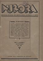 Aurora revista mensal de sociologia, sciência e arte