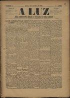 A luz jornal independente, dedicado à propaganda das ideias liberaes