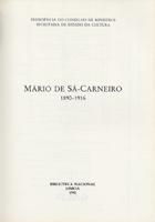 Mário de Sá Carneiro, 1890-1916